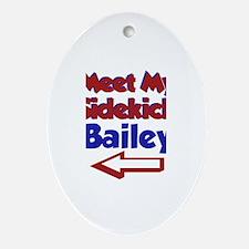 Bailey's Sidekick (Left) Oval Ornament