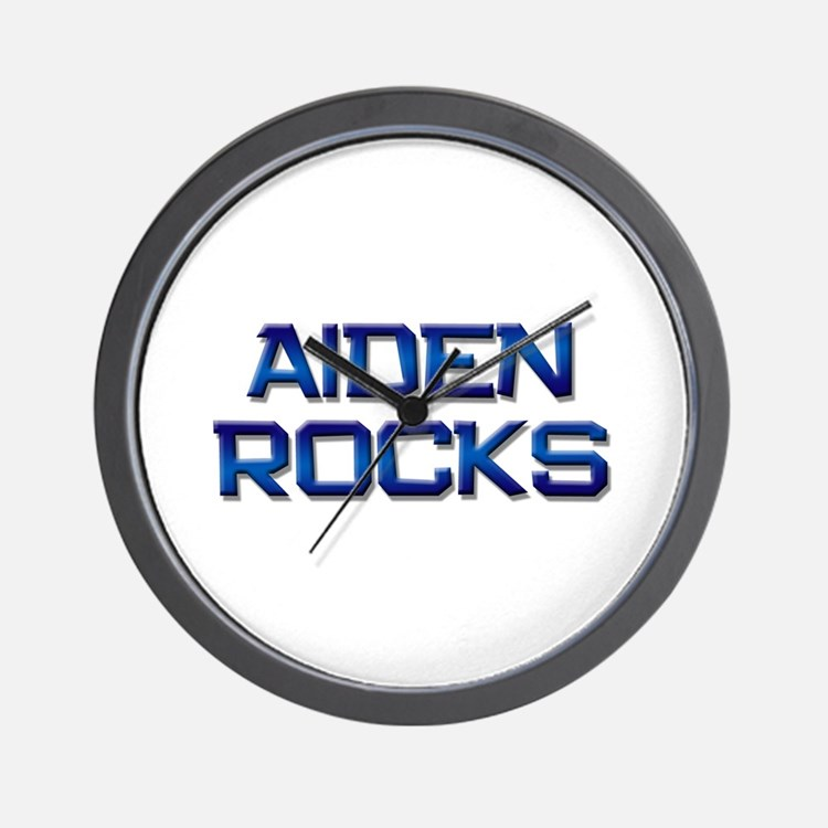 aiden rocks Wall Clock
