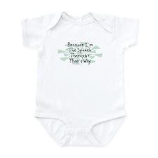 Because Speech Therapist Infant Bodysuit