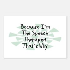 Because Speech Therapist Postcards (Package of 8)