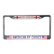 Born English License Plate Frame