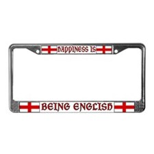 Happiness Is Being English License Plate Frame