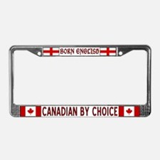 Born English Canadian By Choice Plate Frame