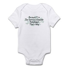 Because Speech Language Pathologist Infant Bodysui