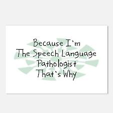 Because Speech Language Pathologist Postcards (Pac