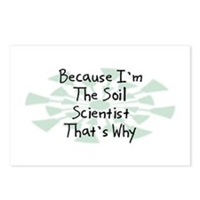 Because Soil Scientist Postcards (Package of 8)