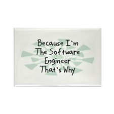 Because Software Engineer Rectangle Magnet (100 pa