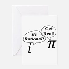 be.rational.get.real Greeting Cards