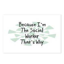 Because Social Worker Postcards (Package of 8)