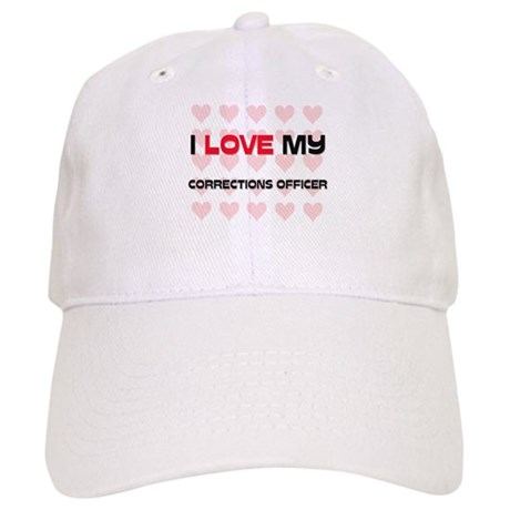 I Love My Corrections Officer Cap