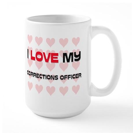 I Love My Corrections Officer Large Mug