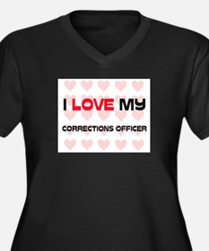 I Love My Corrections Officer Women's Plus Size V-