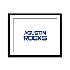 agustin rocks Framed Panel Print