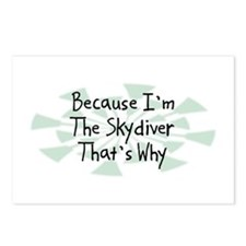 Because Skydiver Postcards (Package of 8)