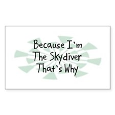 Because Skydiver Rectangle Decal