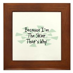 Because Skier Framed Tile