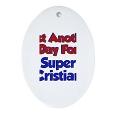 Cristian - Another Day Oval Ornament