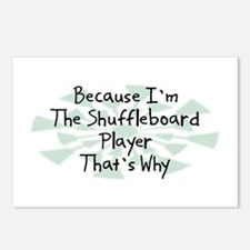 Because Shuffleboard Player Postcards (Package of