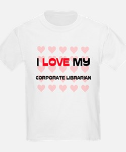 I Love My Corporate Librarian T-Shirt