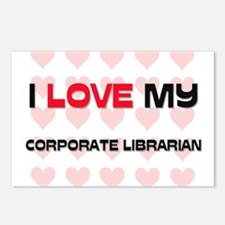 I Love My Corporate Librarian Postcards (Package o