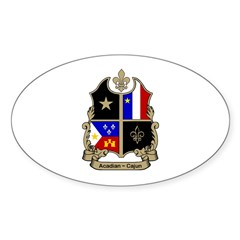 ACADIAN-CAJUN Shield Oval Decal