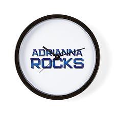 adrianna rocks Wall Clock