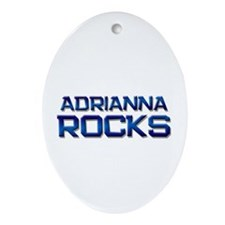adrianna rocks Oval Ornament