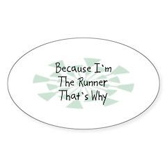 Because Runner Oval Sticker (10 pk)