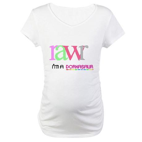 Dorkasaur Maternity T-Shirt