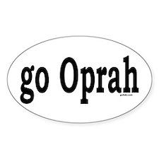 go Oprah Oval Decal