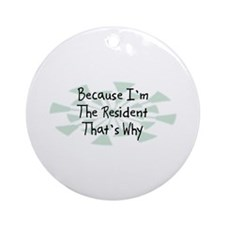 Because Resident Ornament (Round)