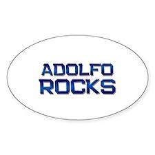 adolfo rocks Oval Decal