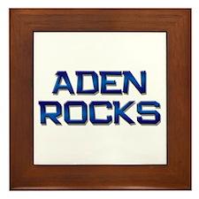 aden rocks Framed Tile
