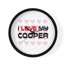 I Love My Cooper Wall Clock