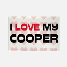 I Love My Cooper Rectangle Magnet