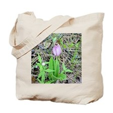 LONE LADY SLIPPER Tote Bag<>Photo on back