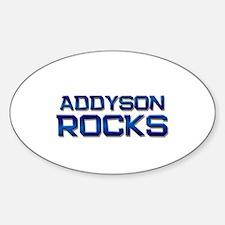 addyson rocks Oval Decal
