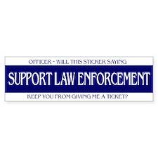 Officer, Will this Bumper Sticker Keep - Bumper Bumper Sticker