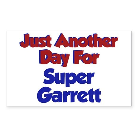 Garrett - Another Day Rectangle Sticker
