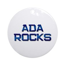 ada rocks Ornament (Round)
