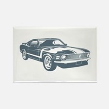 1970 Boss Mustang 302 Rectangle Magnet