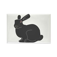 Death Bunny Rectangle Magnet
