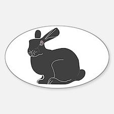 Death Bunny Oval Decal