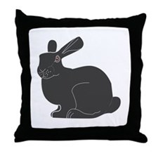 Death Bunny Throw Pillow