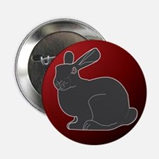 "Crimson Death Bunny 2.25"" Button (100 pack)"