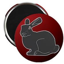 "Crimson Death Bunny 2.25"" Magnet (100 pack)"