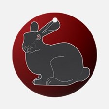 Crimson Death Bunny Ornament (Round)