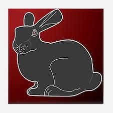 Crimson Death Bunny Tile Coaster
