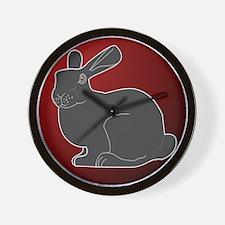 Crimson Death Bunny Wall Clock