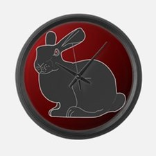 Crimson Death Bunny Large Wall Clock